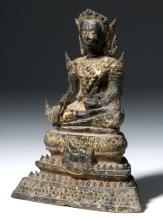19th C. Thai Ratanakosin Gilded Bronze Buddha