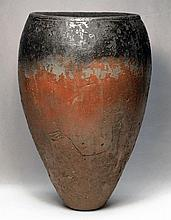 Egyptian Naqada I Black-Topped Jar, Incised Boat