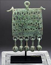 Greek Geometric Bronze Pectoral, Dangling Bells