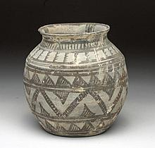 Large Indus Valley Greyware Bi-Chrome Jar