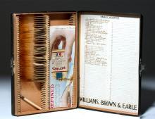 Antique Box of Slides Showing Organ Pathologies
