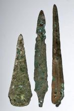 A Group of Three Near Eastern Dagger Points