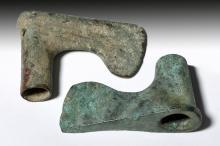 Pair of Iranian Elamite Bronze Axes