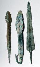 Trio of Central Asian Bronze Blades