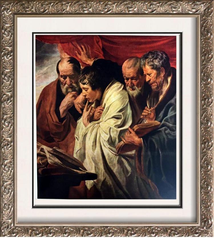 Masterpieces of Flemish Painting Jacob Jordaens: The Four Evangelists c.1620 Fine Art Print