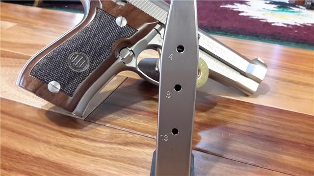 Beretta 84 Cheetah double stacked  380 Rare Nickel Finish