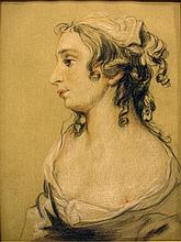 Profile Bust of a Young French Woman