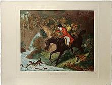 Group of Three Equestrian Scene engravings
