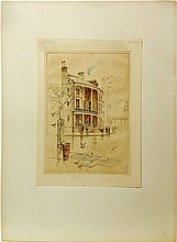 Lot of Two Etchings by Charles F. Mielatz
