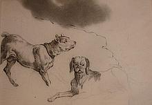 Dog studies by Edwin Henry Landseer