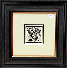 A framed decorative print by Margaret Preston