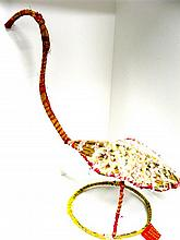 A traditional Central Australian Aboriginal weaved (Brolga) sculpture by Kathy Dod