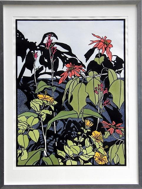 DAVID PRESTON (AUS), Hand Coloured Hand Signed Linocut