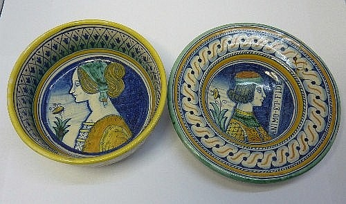 Two French Faience dishes