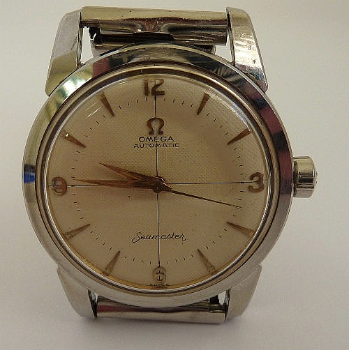 A gentleman's 1950's stainless steel Omega