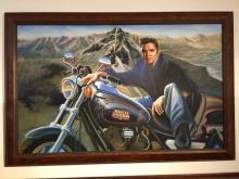 Elvis Presley on Harley Davidson Motorcycle