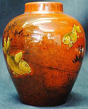 1895 Rookwood cabinet vase, signed Albert Valentien