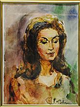 "Arthur Fonvizin (Russian, 1882 – 1973) ""Portrait"""