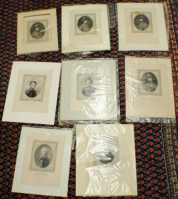 1817 Henri Brenner (1776 – 1836)  lot of 8 Russian Imperators