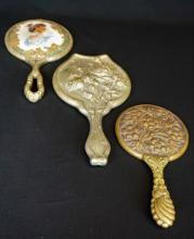 (3) VINTAGE STERLING HAND MIRRORS