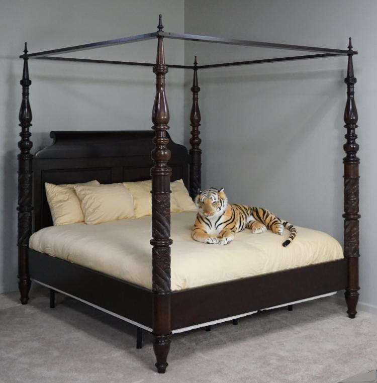 Traditional king size canopy bed by bernhardt Short canopy bed