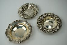 (3) STERLING SILVER NUT DISHES