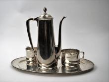 4pc TIFFANY & Co STERLING SILVER COFFEE SERVICE