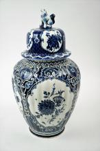 VINTAGE DELFT BLUE ROYAL SPHINX GINGER JAR