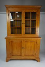 ELDRED WHEELER 12-PANE STEP-BACK CUPBOARD