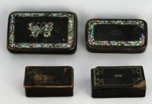 (4) ASSORTED VINTAGE STAMP/SNUFF BOXES
