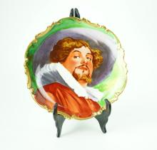 HAND PAINTED LIMOGES CORONET PLATE