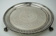WATERHOUSE SILVER PLATE FOOTED TRAY