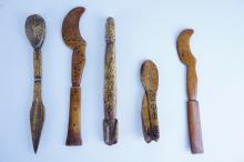 5pcs ASSORTED AFRICAN CARVED BONE