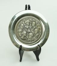 AMERICAN MINT FATHERS OF LIBERTY STERLING PLATE