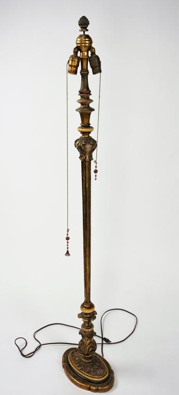 VINTAGE ITALIAN FLORENTINE FLOOR LAMP