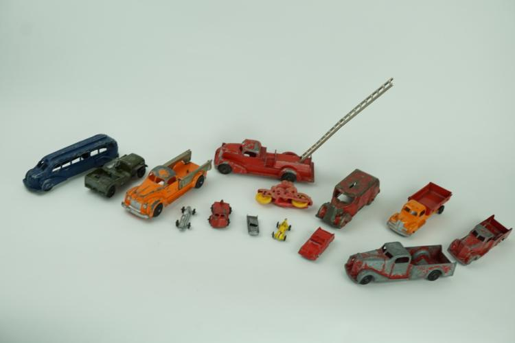 (14) ASSORTED VINTAGE TOY VEHICLES