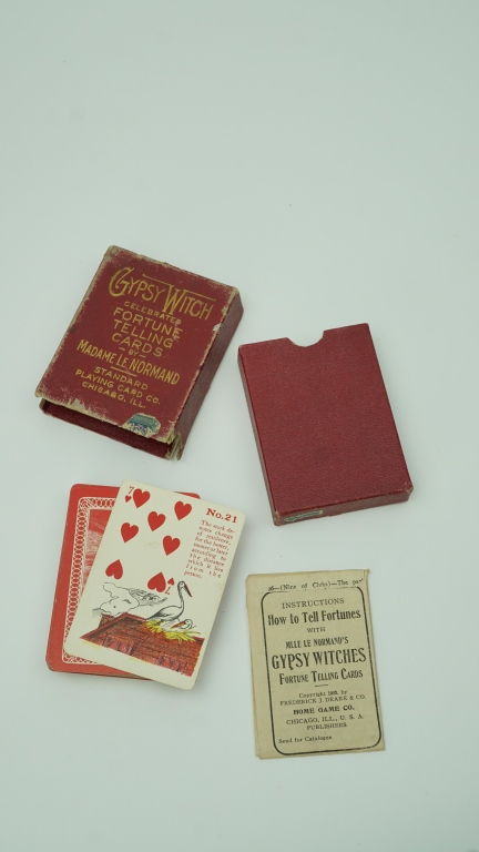 ANTIQUE GYPSY WITCH FORTUNE TELLING PLAYING CARDS