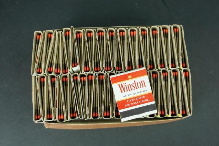 BOX OF VINTAGE WINSTON CIGARETTE MATCHBOOKS