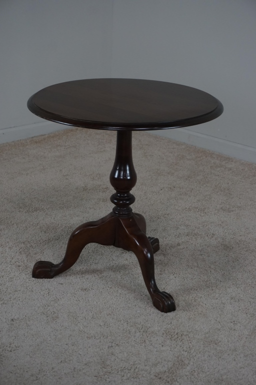 ANTIQUE MAHOGANY CLAWFOOT TABLE