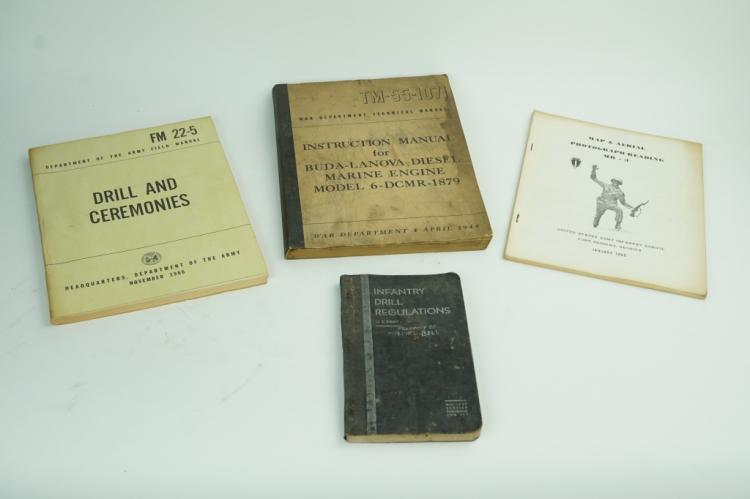 (4) ASSORTED US MILITARY TRAINING MANUALS