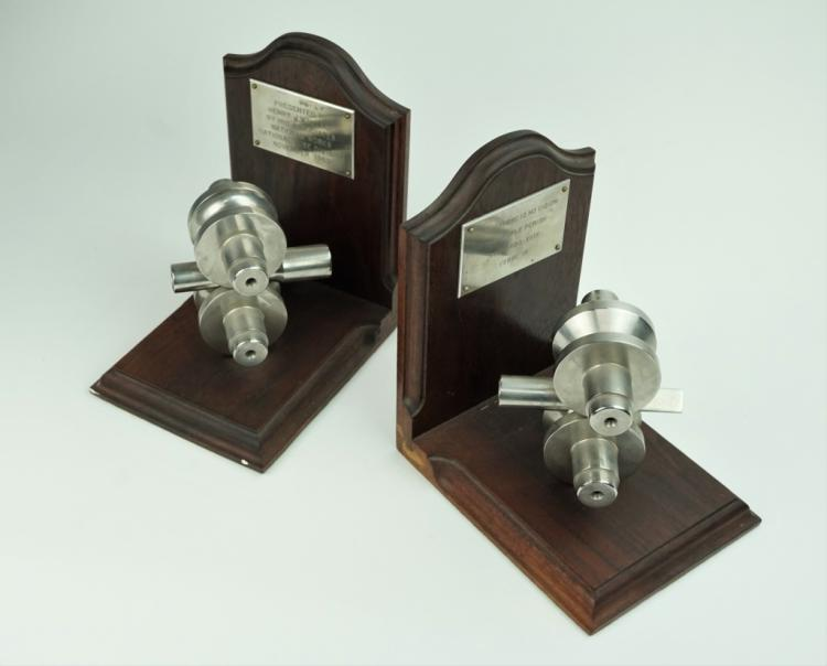 (2) PRESENTATION BOOKENDS BY NATIONAL TUBE WORKS