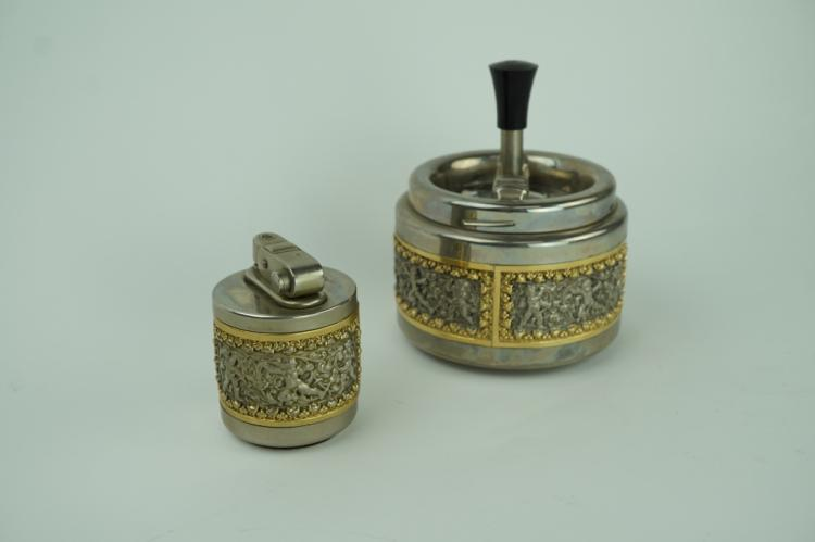 VINTAGE ERHARD & SOHNE LIGHTER & ASHTRAY