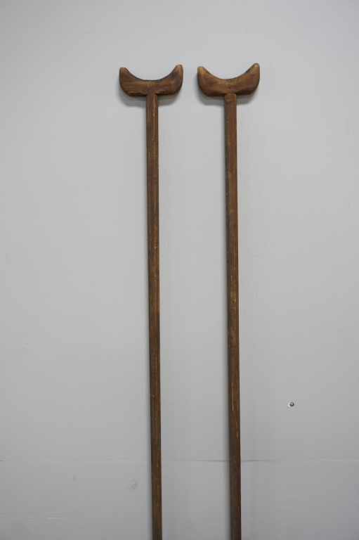 PAIR OF ANTIQUE CIVIL WAR ERA CRUTCHES