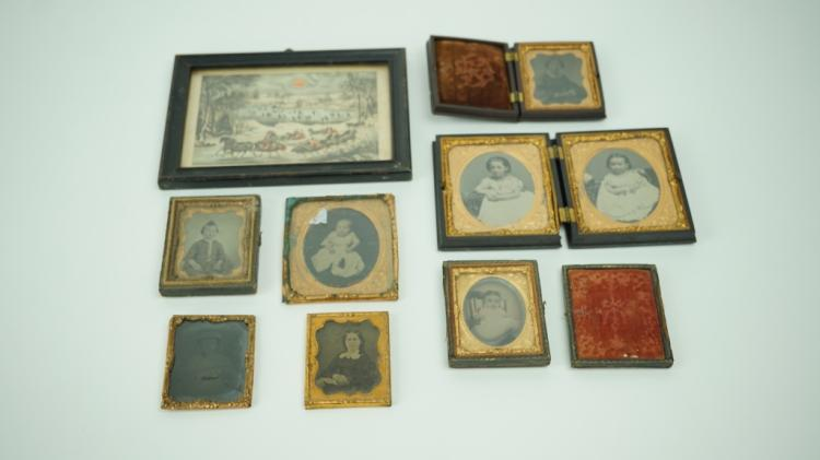 8 ANTIQUE DAUGURROTYPES AND PRINTS