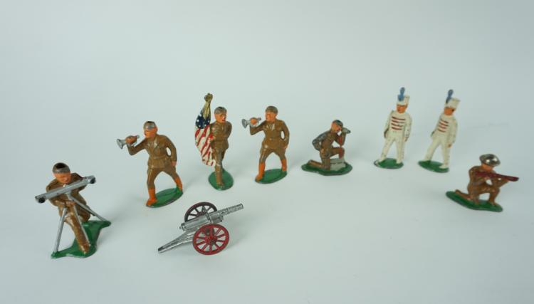 (9) ASSORTED CAST METAL SOLDIERS