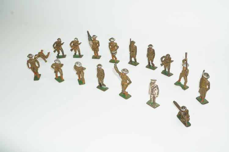 (17) ASSORTED CAST IRON WORLD WAR I SOLDIERS