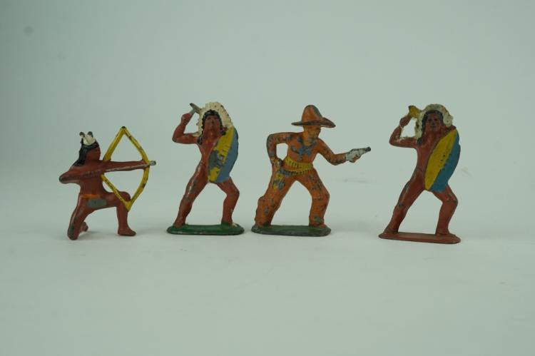 (4) ASSORTED BARCLAY MANOIL FIGURES