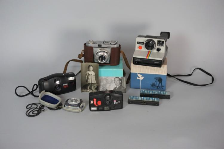 8pcs ASSORTED CAMERAS AND ACCESSORIES