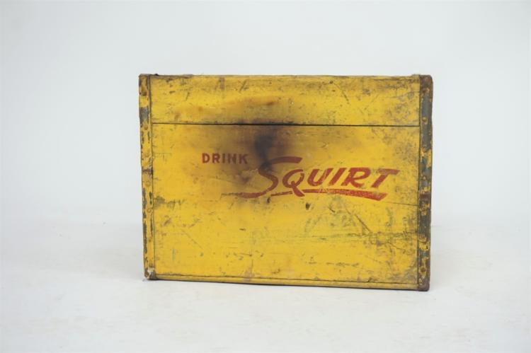 VINTAGE WOODEN SQUIRT SODA CRATE