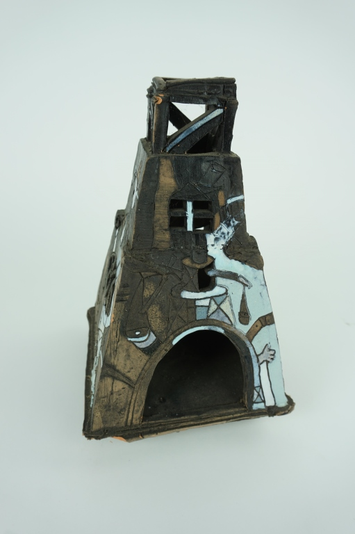 VINTAGE KILN DRIED CLAY CANDLE HOLDER